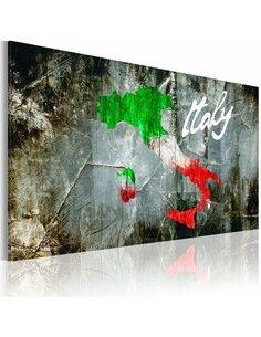 Tableau CARTE ARTISTIQUE DE L'ITALIE - par Artgeist