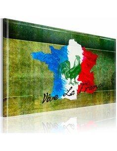 Tableau Vive La France  Cartes du monde Artgeist