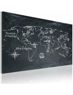 Tableau Leçon De Géographie (Langue Tchèque)  Cartes du monde Artgeist
