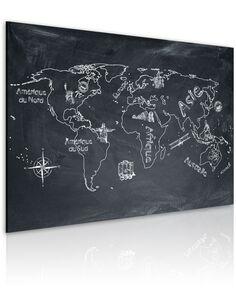 Tableau LEÇON DE GÉOGRAPHIE en français - Cartes du monde par Artgeist