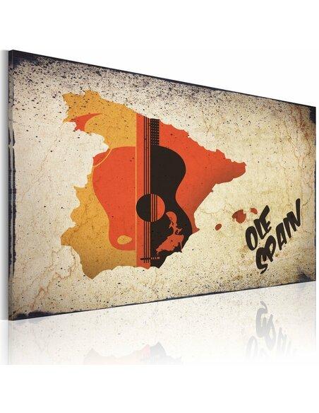 Tableau ¡Olé! Spain  Cartes du monde Artgeist