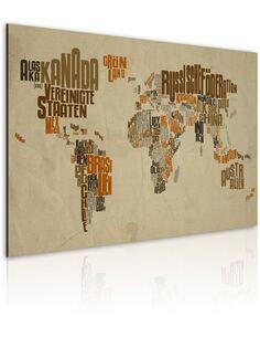 Tableau CARTE DU MONDE en Allemand - Cartes du monde par Artgeist
