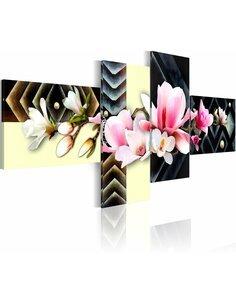 Tableau - 4 tableaux - orchidée - moderne - par Artgeist