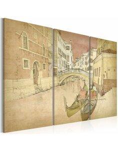 Tableau Triptyque - City of lovers - triptych - par Artgeist