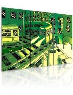 Tableau Triptyque - Gare futuristique - par Artgeist