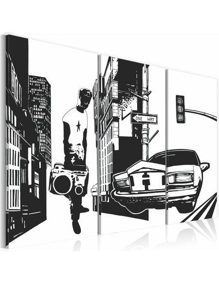 Tableau Triptyque - Aisance urbaine - par Artgeist