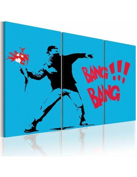 Tableau Triptyque - Bang bang! - triptych - par Artgeist
