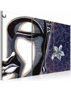 Tableau Triptyque - Triptych, Buddha and lotus flower - par Artgeist