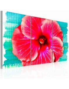 Tableau HAWAIIAN FLOWER Triptyque - par Artgeist