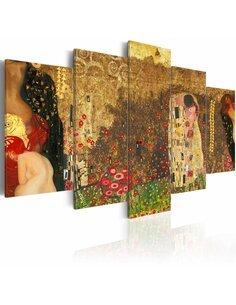 Tableau - 5 tableaux - Klimt's muses Abstractions Artgeist