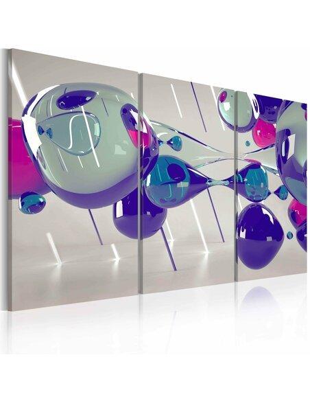 Tableau Triptyque - Glass bubbles - triptych - par Artgeist