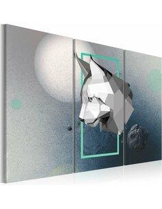 Tableau Triptyque - animal - 3D - Triptych - par Artgeist