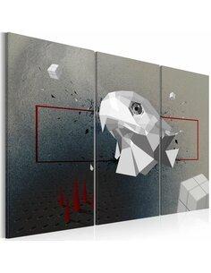 Tableau Triptyque - Aigle - 3D Abstractions Artgeist