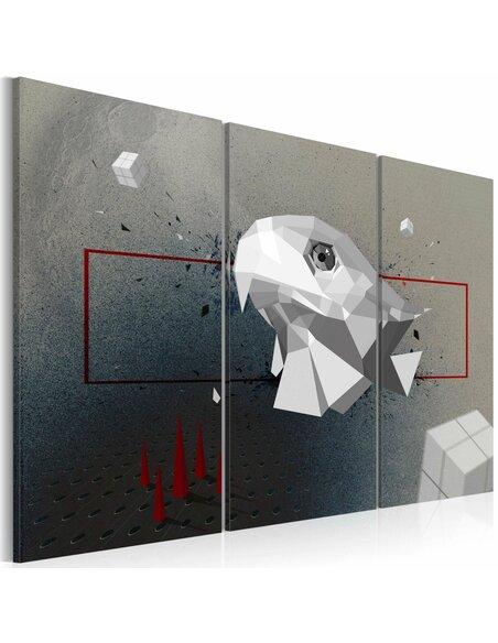 Tableau AIGLE 3D Triptyque - par Artgeist