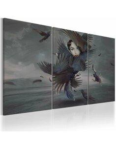 Tableau Triptyque - Feather dress - par Artgeist
