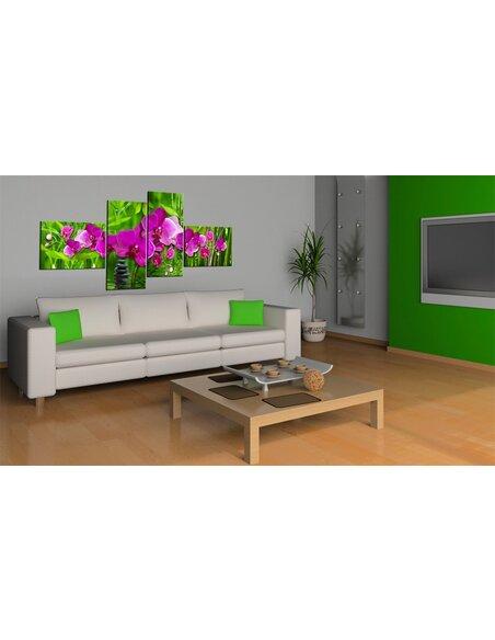 Tableau - 4 tableaux - Zone Zen en couleurs vives - par Artgeist