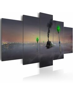 Tableau STEAM LOCOMOTIVE - Abstractions par Artgeist