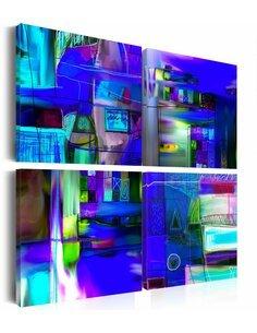 Tableau - 4 tableaux - Voie navigable de cobalt - par Artgeist
