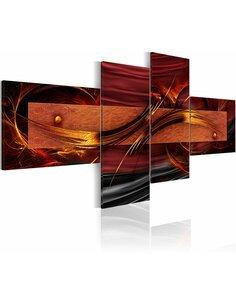 Tableau - 4 tableaux - Fiery circles - par Artgeist