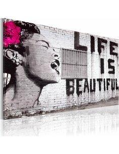 Tableau Life Is Beautiful  Art urbain Artgeist