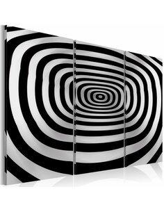 Tableau Triptyque - art optique - abîme - par Artgeist