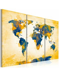 Tableau FOUR CORNERS OF THE WORLD Triptyque - par Artgeist