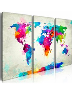 Tableau WORLD MAP: AN EXPLOSION OF COLORS - par Artgeist