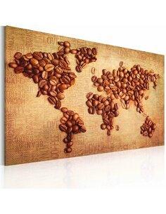 Tableau Cafés Du Monde  Cartes du monde Artgeist