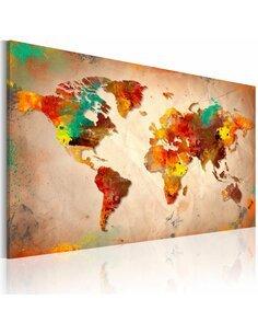 Tableau Painted World  Cartes du monde Artgeist