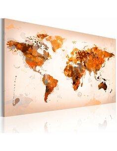 Tableau MAP OF THE WORLD DESERT STORM - par Artgeist