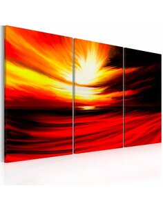 Tableau Triptyque - Fire from the sky - par Artgeist
