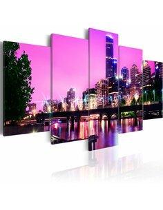 Tableau - 5 tableaux - Night urban city skyline - Melbourne - par Artgeist