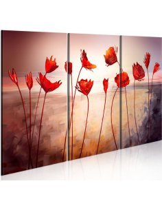 Tableau BRIGHT RED POPPIES - par Artgeist