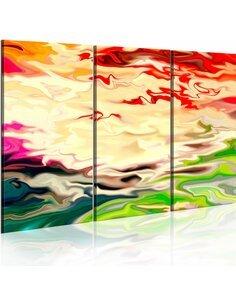 Tableau Triptyque - Arc-en-ciel reflets - par Artgeist