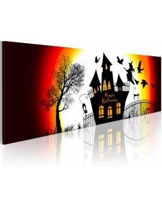 Tableau Panoramique - Halloween noir - par Artgeist