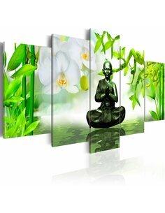 Tableau - 5 tableaux - Bouddha de cuivre - par Artgeist