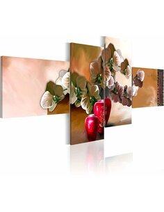 Tableau - 4 tableaux - Orient et orchidée - par Artgeist