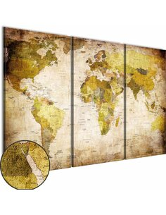 Tableau VIEUX CONTINENTS - Cartes du monde par Artgeist