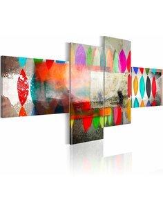 Tableau - 4 tableaux - Tresses irisées - par Artgeist