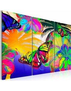 Tableau Triptyque - Papillons exotiques - par Artgeist