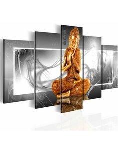 Tableau - 5 tableaux - Prière bouddhique Zen Artgeist