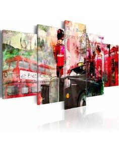 Tableau MÉMOIRES DE LONDRES 5 pièces - par Artgeist