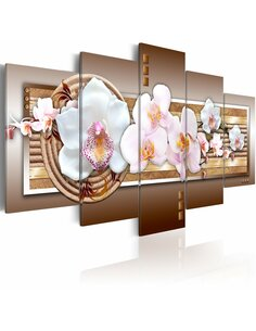 Tableau - 5 tableaux - Délicatesse de l'orchidée - par Artgeist