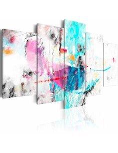 Tableau - 5 tableaux - Délicatesse folle Modernes Artgeist