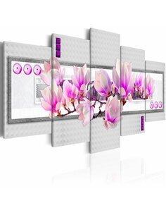 Tableau - 5 tableaux - Blossoming sprig of magnolia - par Artgeist