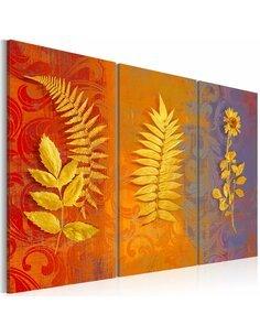 Tableau Triptyque - Dried flowers - triptych - par Artgeist