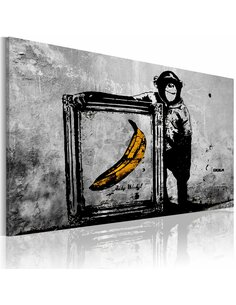 Tableau Inspired By Banksy Black And White  Art urbain Artgeist