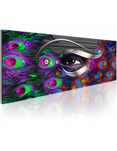 Tableau Panoramique - Fake peacock eye Abstractions Artgeist