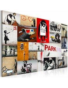 Tableau BANKSY Collage - par Artgeist