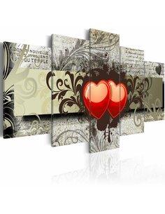 Tableau - 5 tableaux - Two hearts, one mind... - par Artgeist